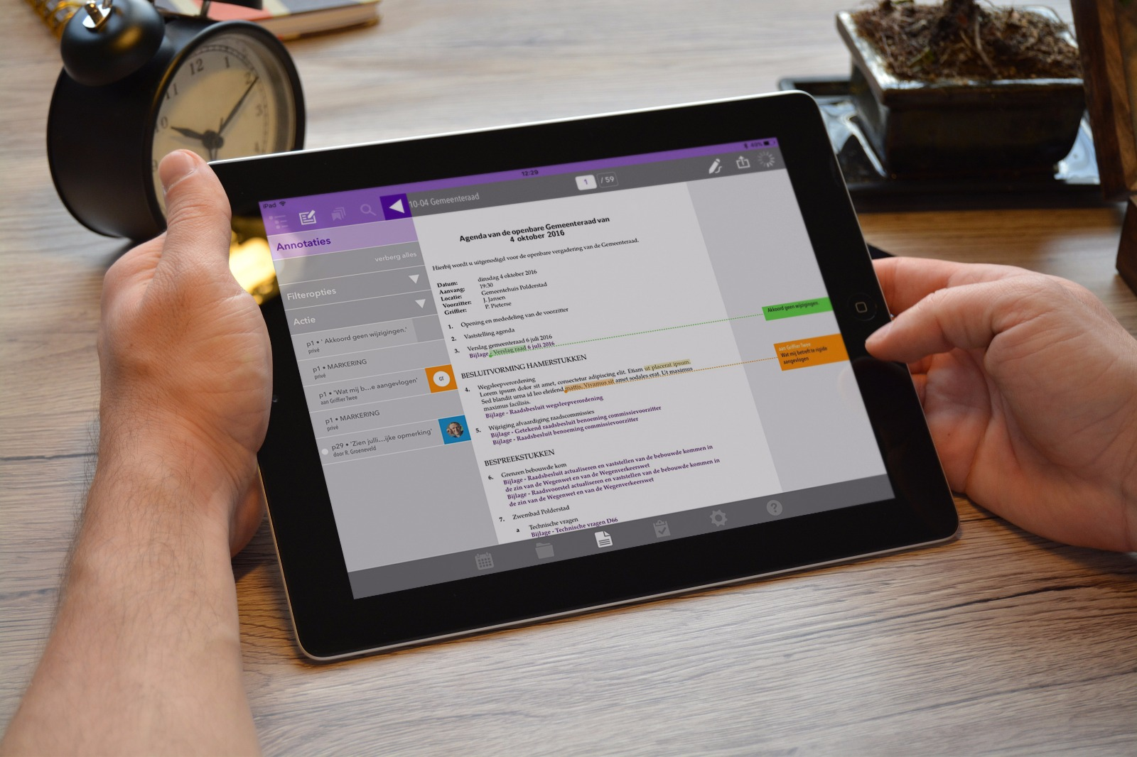 Efficiënte vergaderoplossing voor iPad